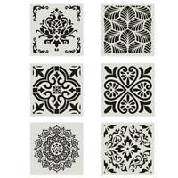 30*30CM Mandala Stencil Painting Floor Wall Template Embossing Album Tool T1Y5