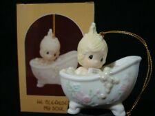 Precious Moments Ornaments-Girl/Bathtub/Bu bbles-He Cleansed My Soul