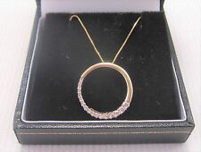 A Diamond Pendant in 9ct Yellow Gold