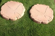 Log Effect Stepping Stone 450x450x38 £2.55  Colour Brown in Pic