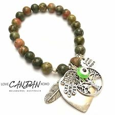 Evil Eye Hamas Fatima Hand Tree Of Life Love Hope Faith Heart Charm Bracelet
