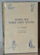WHEN WE WERE VERY YOUNG ~ 1ST/1ST EDITION W. ORIGINAL JACKET ~ A.A.MILNE