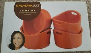 NIB RACHAEL RAY 4 PIECE SET BUBBLE & BROWN SINGLES STONEWARE