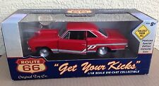 Rare Red Route 66 1966 Chevy Nova SS Pro Stock 1:18 ERTL Kmart diecast Car