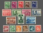 Lithuania used #301-305-306-309,314-316, 317-322 MLH 4 Sets   Cat.$7.00