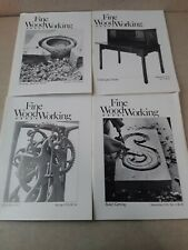 4 Vintage Fine Woodworking Soft Cover Issues 1978