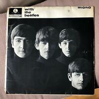 THE BEATLES - WITH THE BEATLES   EX- VINYL LP / 2ND Pressing Mono / VARIANT A