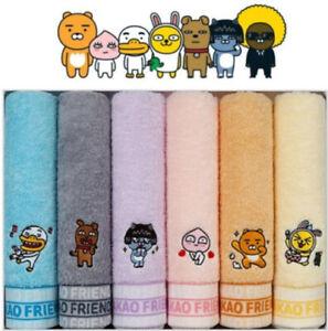 KAKAO FRIENDS FACE TOWEL 160g Cotton 100% 6pcs Set