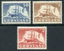 Greenland: 1950 Polar Ship Gustav Holm (35-37) Mint