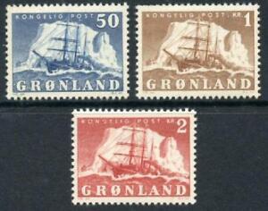 Greenland: 1950 Polar Ship Gustav Holm (35-37) Mint