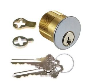 "Mortise Lock Cylinder , 1-1/8"" L, Schlage C Keyway , Adams Rite & Standard Cams"