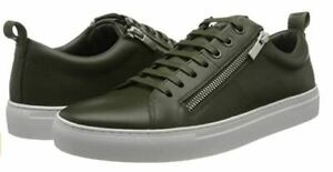 Hugo Boss men's Futurism Tenn nazp trainers - 100% Leather, side zips