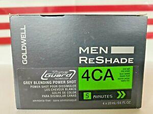 Goldwell Men ReShade Grey Blending Power Shot - 4CA COOL ASH MID BROWN -4 x 20mL
