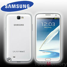 GENUINE Samsung Galaxy Note 2 II Protective Cover Case White GT-N7100 GT-N7105
