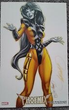 J Scott Campbell Jean Grey Yellow X-men Marvel SDCC 11x17 Art Print SIGNED