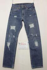 Levi's 505 (Cod. U224) Tg43  W29 L32  jeans usato customized boyfriend