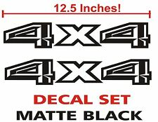 4x4 Truck Bed Decals, Matte Black (Set) for 2015 Ford F-150 and Super Duty