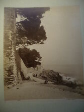 PHOTO ANCIENNE NERVI  ITALIE NOACK GENOVA 1890