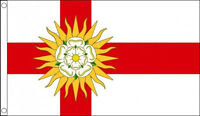 WEST RIDING of YORKSHIRE FLAG 5' x 3' English England County White Rose Flags