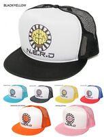 New Retro 'NERD' Neptunes Hip-Hop Flat Brim Snapback Baseball Trucker Hat Cap