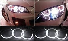 New Bright Full Set 6 CCFL HALO RINGS ANGEL EYES For Mazda3 Mazda 3 White 04-08