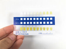 Tooth Bleaching Comparison Chart Dental Teeth Whitening Shade Color Guide 10PCS