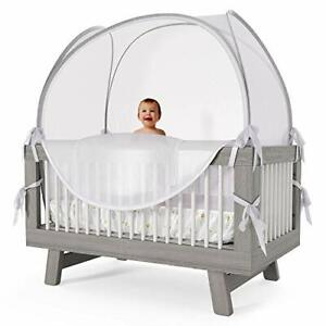 """Nahbou Baby Self Propping Mesh Crib Tent Net Pop Up Canopy Cover 52"""" x 27"""" x 52"""""""