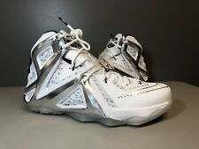 competitive price 4471b 787b5 NIKE LEBRON 12 ELITE SP PIGALLE 806951 100 WHITE BLACK SIZE 10