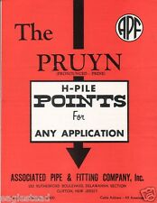 Equipment Brochure - Apf - H-Pile Pruyn Points Uses Driving - 8 items (E1721)