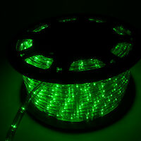 150' LED Green Rope Light 2 Wire Outdoor Home Party Lighting Bedroom Decor 110V
