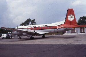 Original Airliner Slide Dan Air HS748 G-AXVG