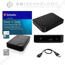 HARD DISK ESTERNO 3,5 2 TB VERBATIM USB 2.0/3.0 HD 2000GB PC HDD SMART