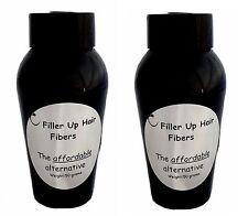AUBURN 2- 50 gram bottles Filler Up Hair  Fibers LOW COST SUBSTITUTE USA SELLER