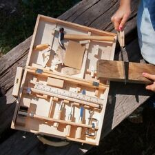 PROFESSIONAL CHILDRENS TOY TOOL KIT WOODEN BOX TABLE STATION BUILDER WORK SET