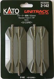 Kato HO UniTrack ~ 123mm 4 7/8 Inch Road Crossing ReRailer (2pcs) 2-142