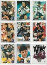 DYNAMIC 1995 SERIES 2 RUGBY LEAGUE CARDS PENRITH PANTHERS BASE SET (9)