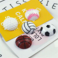 Resin Flatback Sports Balls Cabochons 10 pcs Craft Decorations Jewelry Findings
