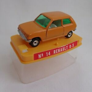 Vintage 1970's Guisval (Spain) No14 Renault R-5 ORANGE / RARE EARLY Wheels BOXED