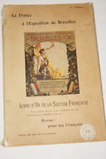 LA FRANCE A L'EXPOSITION DE BRUXELLES LIVRE D'OR GRAVURES 1910 AVIATION ART