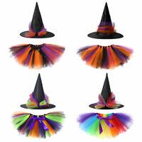 Children Girls Tutu Skirts Halloween Party Dance Baby Costume Skirt+Hairband Set