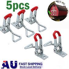 5PCS Cupboard Metal Lever Handle Catch Latch Lock Clamp Hasp Adjustable Size S