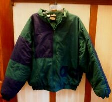 Adidas Classic Vintage 90s Block Puffer Jacket Coat Trefoil Sz. L Logo Spell Out