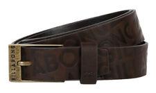 Billabong Unisex Belt Size Small Medium 100 PU Faux Leather Metal Silver Buckle