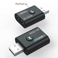 3-in-1 USB Bluetooth 5.0 Audio Receiver Transmitter Adapter Aux Wireless L8J4