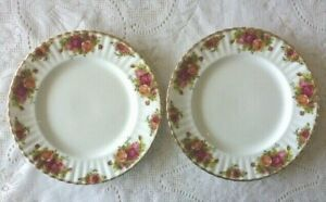 ROYAL ALBERT ENGLAND OLD COUNTRY ROSES DINNER PLATE X 2 VARIOUS BACKSTAMPS