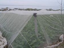 Agfabric 8x30ft Mosquito Netting Bug Insect Bird Net Barrier Hunting  White