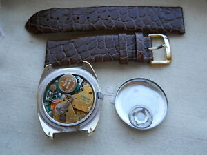EXTREMELY RARE BIG VINTAGE,1969 BENRUS CITATION,SWISS, ELECTRONIC,GP/SS,SERVICED
