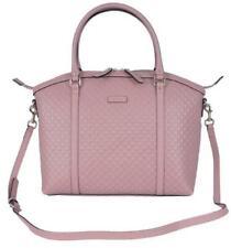 Gucci Women's 510286 Micro GG Red Leather Medium Satchel Purse Handbag