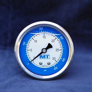 "Silicon Oil filled Pressure Gauge 63mm 450PSI 30Bar G1/4"" SS304 Panel mount 450P"