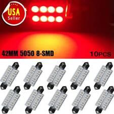10X 42MM Festoon 211-2 212-2 5050 8SMD LED Car Dome Map Interior Light Bulb Red